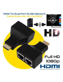 HDMI to dual RJ45 port adapter